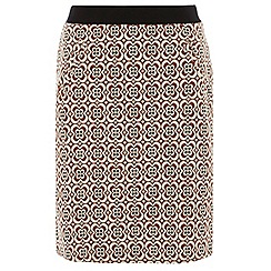 Dorothy Perkins - Tall floral textured a line skirt