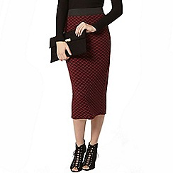 Dorothy Perkins - Berry chevron pencil skirt