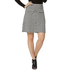 Dorothy Perkins - White geo print a-line skirt