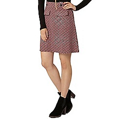 Dorothy Perkins - Pink geo print a-line mini skirt