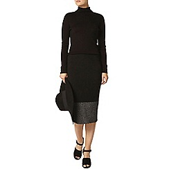 Dorothy Perkins - Black flat knit pencil skirt