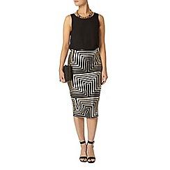 Dorothy Perkins - Gold foil grid tube skirt