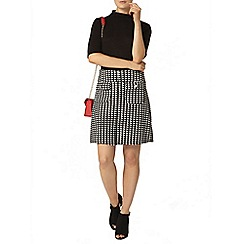 Dorothy Perkins - Mono textured a line skirt