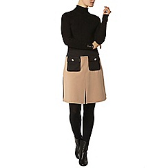 Dorothy Perkins - Black and camel bloack a line mini skirt