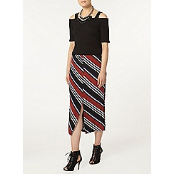 Dorothy Perkins - Stripe split column skirt