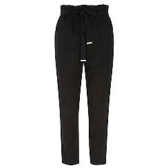 Dorothy Perkins - Black linen tie waist trousers