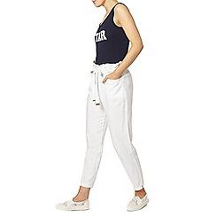 Dorothy Perkins - White linen tie waist trouser