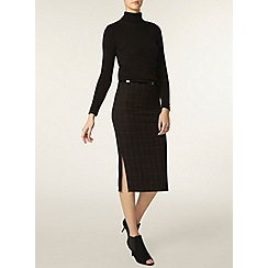 Dorothy Perkins - Tall belted check pencil skirt