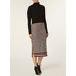 Dorothy Perkins - Geo border printed tube skirt