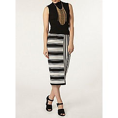 Dorothy Perkins - Mono and camel print knit tube skirt