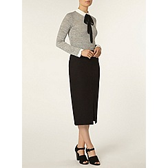 Dorothy Perkins - Black compact ponte tube skirt