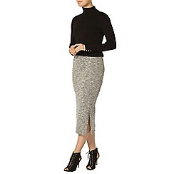 Dorothy Perkins - Grey marl split tube skirt