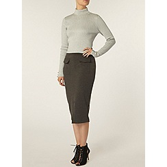 Dorothy Perkins - Grey patch pocket pencil skirt