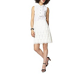 Dorothy Perkins - White aztec lace mini skirt