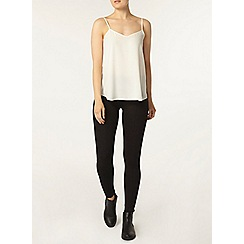 Dorothy Perkins - Black curved seam treggings