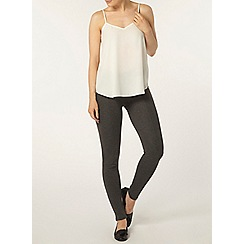 Dorothy Perkins - Grey curve seam treggings