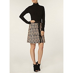 Dorothy Perkins - Geo printed aline mini skirt