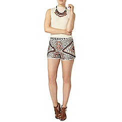 Dorothy Perkins - Geo embellished shorts