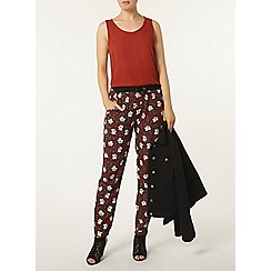 Dorothy Perkins - Black and rust pansy joggers