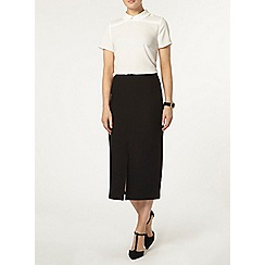 Dorothy Perkins - Black split front column skirt