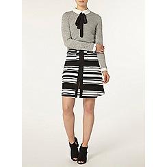Dorothy Perkins - Mono stripe ponte a line skirt