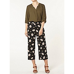 Dorothy Perkins - Black and yellow floral crop trouser