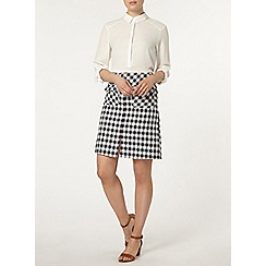 Dorothy Perkins - Gingham woven a line mini skirt