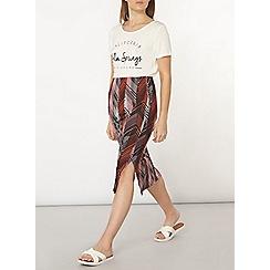 Dorothy Perkins - Palm print tube skirt