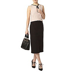 Dorothy Perkins - Black pocket column skirt