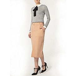 Dorothy Perkins - Camel pocket column skirt