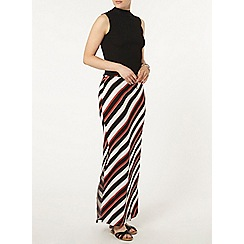 Dorothy Perkins - Red and white stripe maxi skirt