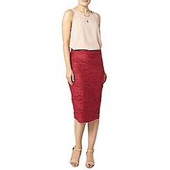 Dorothy Perkins - Pink lace pencil skirt
