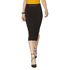 Dorothy Perkins - Blk front elastic pencil skirt