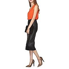 Dorothy Perkins - Tall black pu pencil skirt