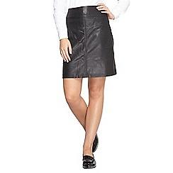 Dorothy Perkins - Dp curve pu pocketed a-line skirt