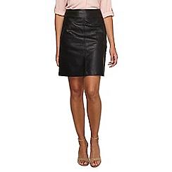 Dorothy Perkins - Tall black pu a-line skirt