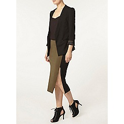 Dorothy Perkins - Khaki colour block tube skirt