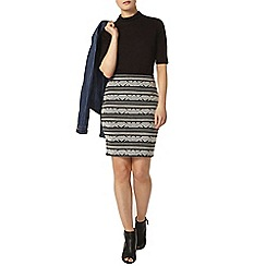 Dorothy Perkins - Black and white aztec mini skirt