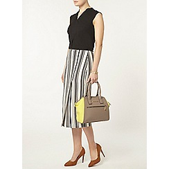Dorothy Perkins - Stripe expose zip column skirt