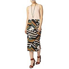 Dorothy Perkins - Khaki cutabout tube skirt
