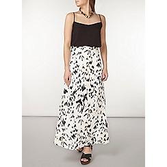 Dorothy Perkins - Animal print woven maxi skirt