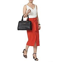 Dorothy Perkins - Orange crepe tie column skirt