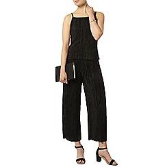 Dorothy Perkins - Black plisse crop trouser
