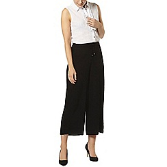 Dorothy Perkins - Black crepe soft crop trousers