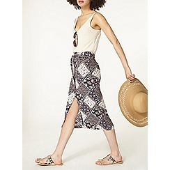 Dorothy Perkins - Paisly patchwork coloumn skirt