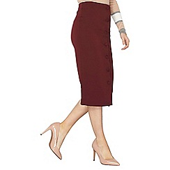 Dorothy Perkins - Burgundy scuba column skirt