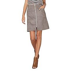 Dorothy Perkins - Grey suede a-line skirt