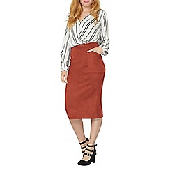 Dorothy Perkins - Rust pocket column skirt