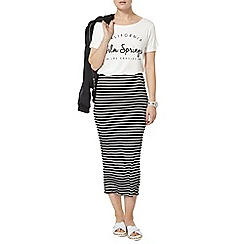 Dorothy Perkins - Black and ivory stripe tube skirt