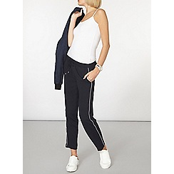 Dorothy Perkins - Navy piped crepe joggers